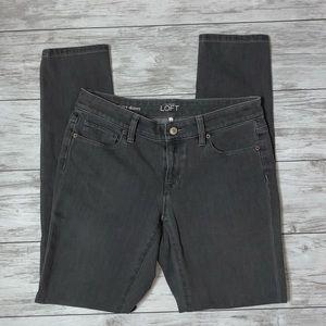 LOFT Gray Curvy Skinny Jeans 27 / 4